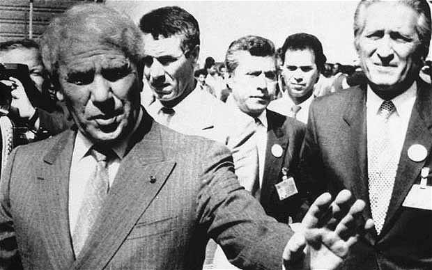 Chadli Bendjedid, presidente meses antes de las revueltas.