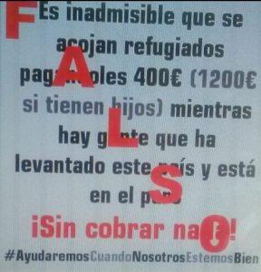 Rumor refugiados sirios en España